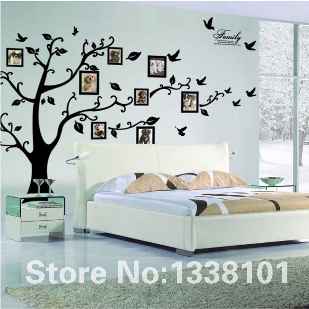 Наклейка на стену с фоторамками«Дерево» купить на Алиэкспресс