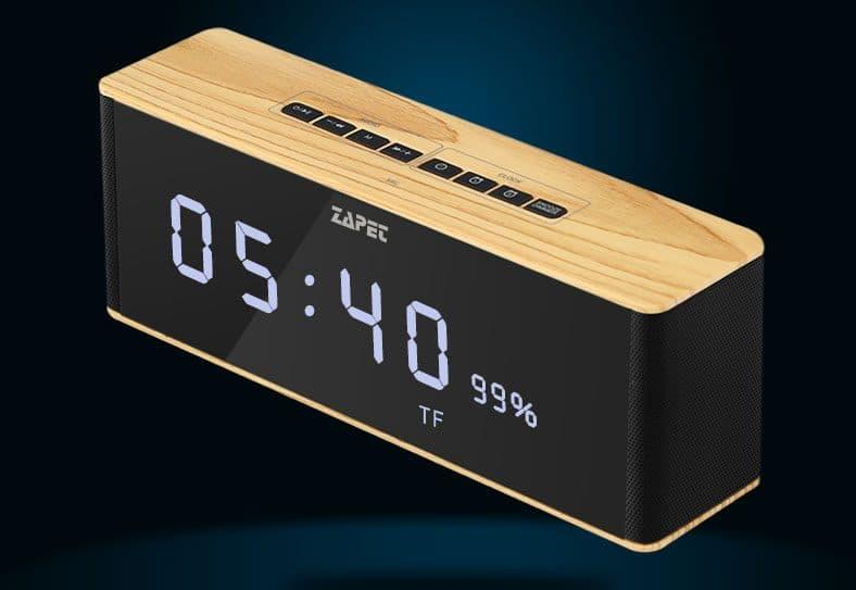 Портативная колонка с часами и будильником Zapet купить на Алиэкспресс
