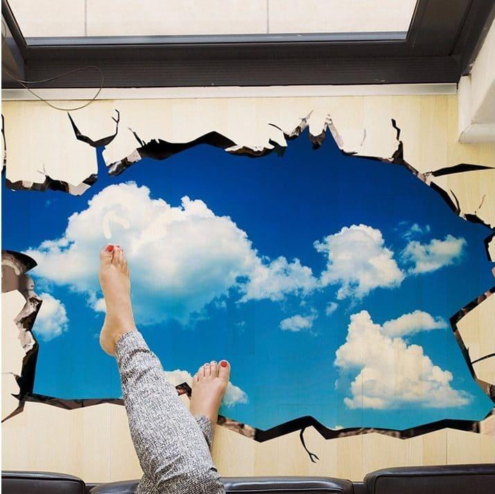 Наклейка на потолок«Небо» купить на Алиэкспресс