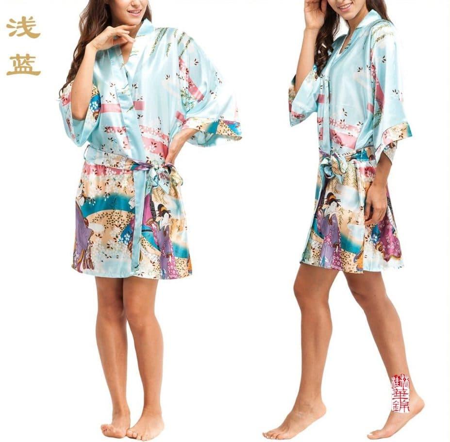 Короткий шелковый халат купить на Алиэкспресс
