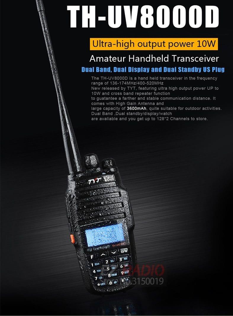 Мощная рация TYT TH-UV8000D купить на Алиэкспресс