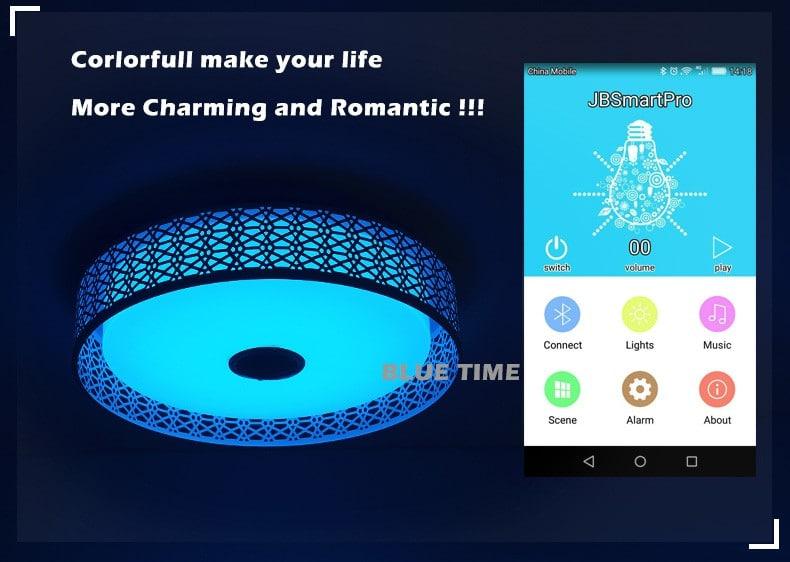 Музыкальная люстра с Bluetooth BLUE TIME купить на Алиэкспресс