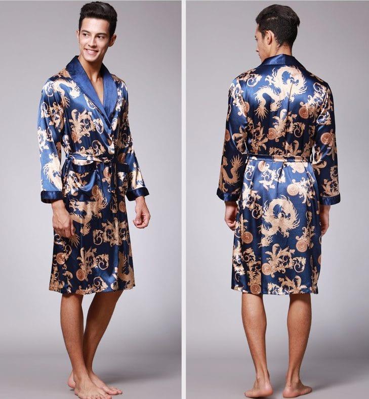 Китайский шелковый халат купить на Алиэкспресс