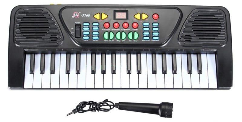 Детский синтезатор с микрофоном купить на Алиэкспресс