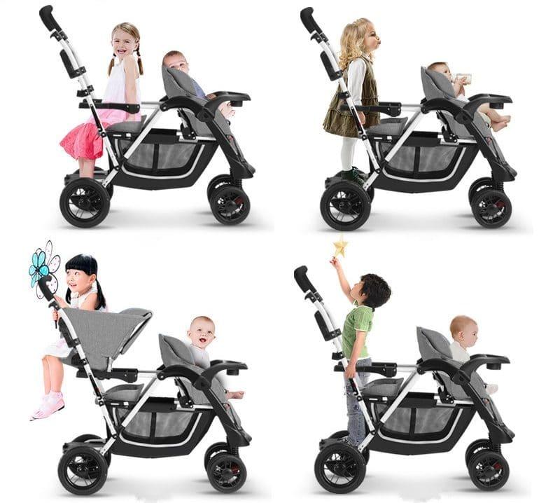 Коляска для двух детей разного возраста BABYRULER купить на Алиэкспресс