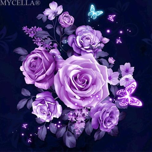 Алмазная вышивка Розы купить на Алиэкспресс