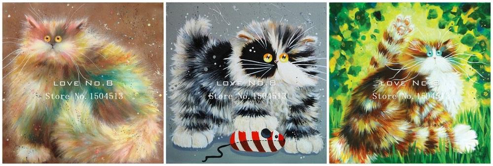 Алмазная вышивка Коты купить на Алиэкспресс
