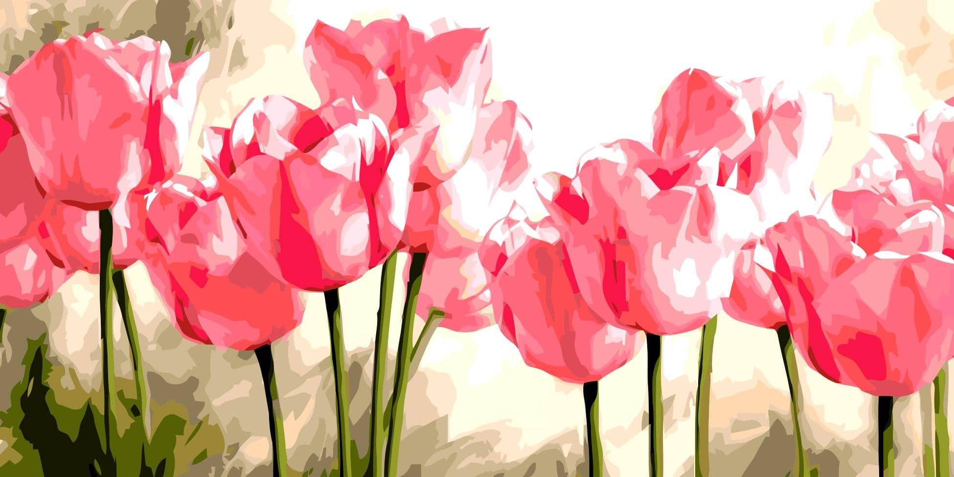 Картина по номерам—цветы купить на Алиэкспресс