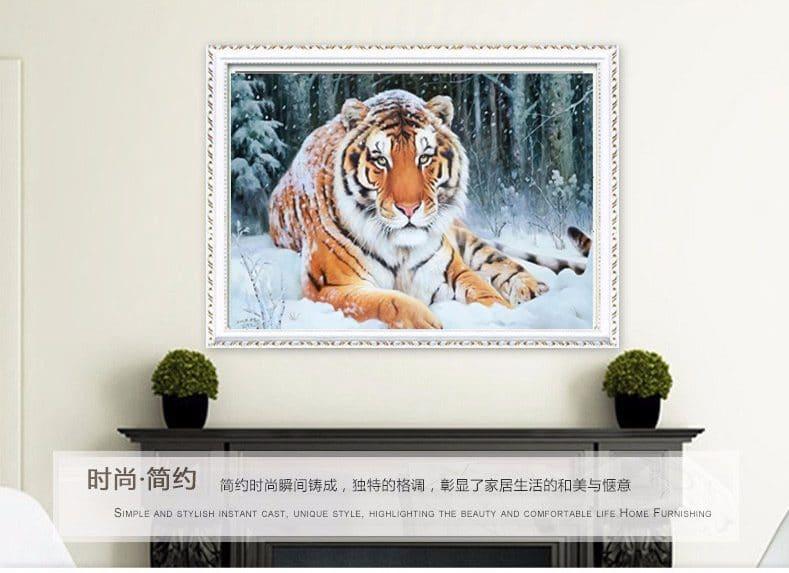 Алмазная вышивка Тигры купить на Алиэкспресс