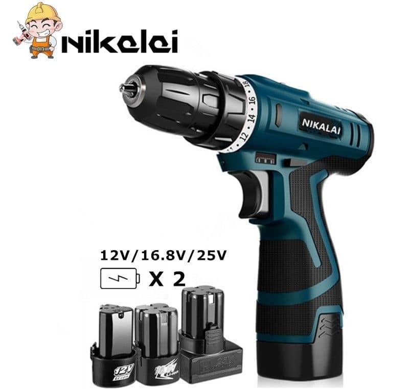 Шуруповерт для дома Nikalaiс запасным аккумулятором купить на Алиэкспресс