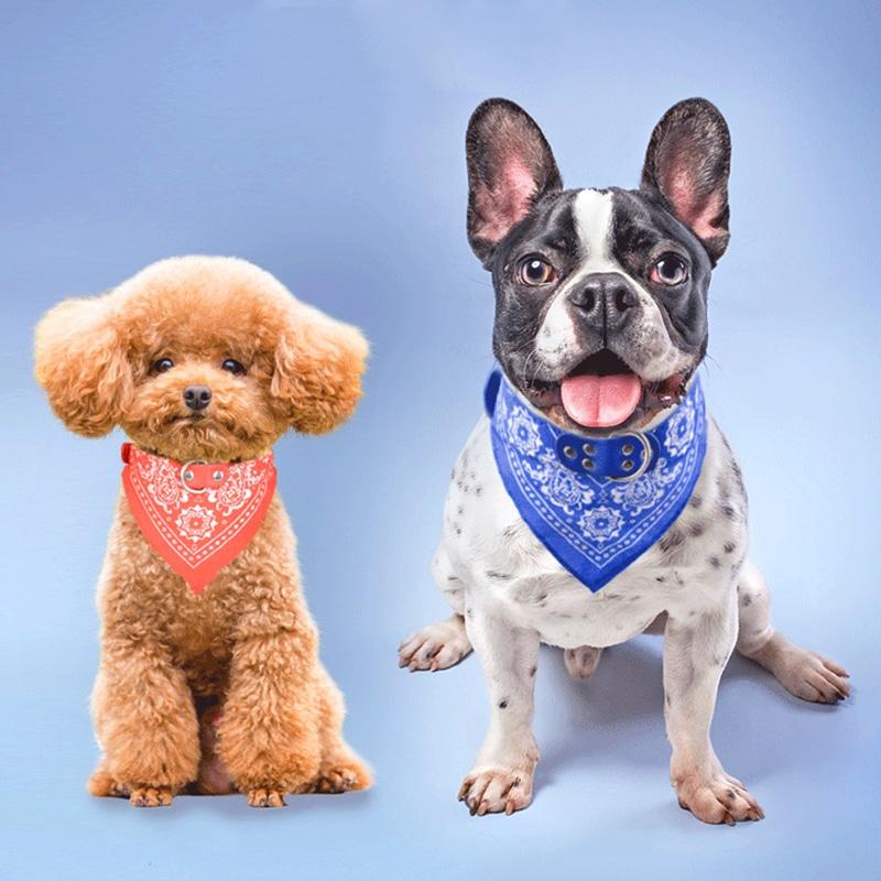 Кожаный ошейник-бандана для собак  купить на Алиэкспресс