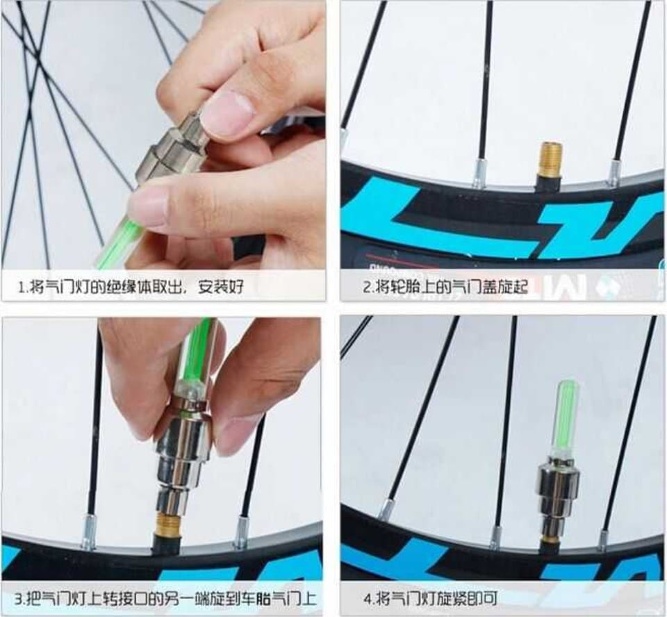Светящиеся колпачки на ниппель велосипеда купить на Алиэкспресс