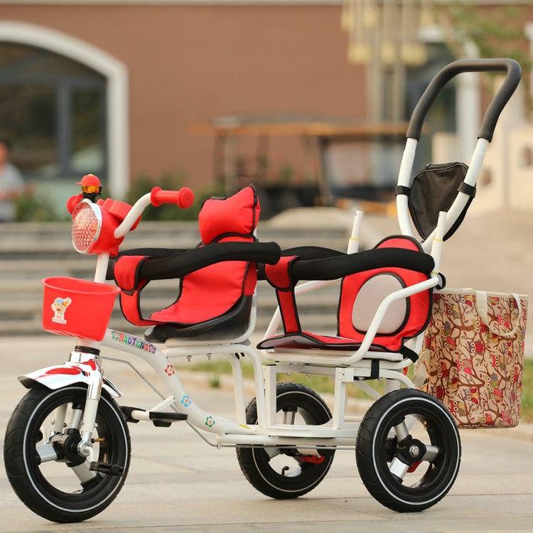 Трехколесный велосипед для двоих детей купить на Алиэкспресс