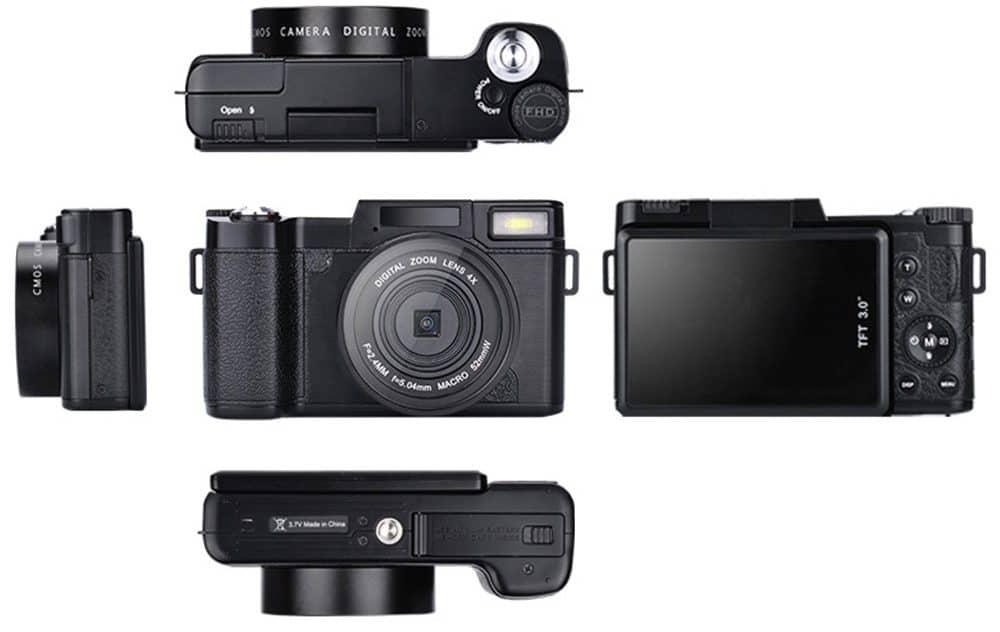 Фотоаппарат с поворотом экрана на 180 градусов купить на Алиэкспресс