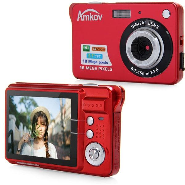 Дешевый цифровой фотоаппарат Amkov купить на Алиэкспресс