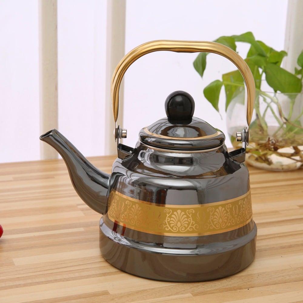 Черный эмалированный чайник купить на Алиэкспресс