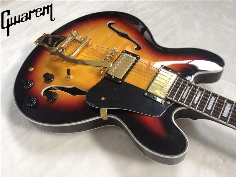 Гитара Gwarem — копияGibson ES335 купить на Алиэкспресс