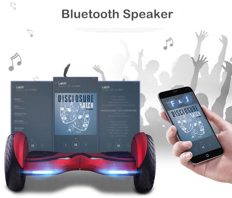Гироскутер FLJ с Bluetooth-колонками купить на Алиэкспресс