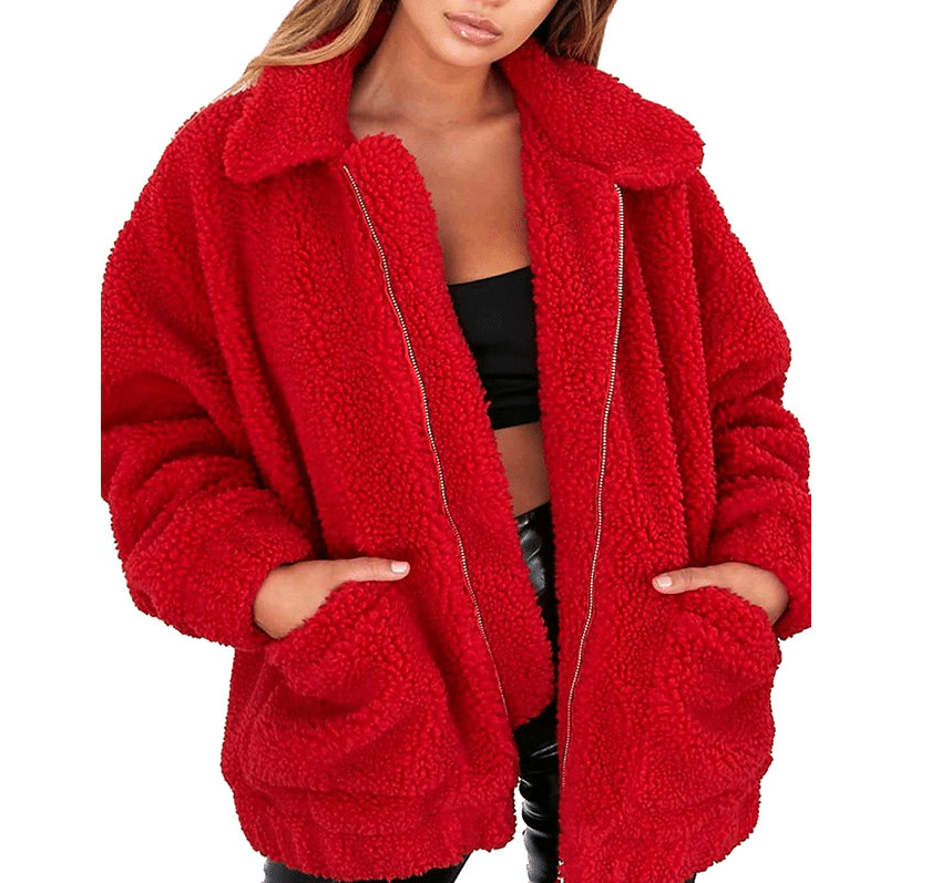 Плюшевые пальто купить на Алиэкспресс