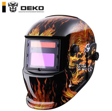Сварочная маска Хамелеон с рисунком DEKO купить на Алиэкспресс