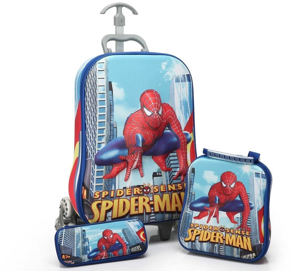 Детский чемодан на колесах + пенал + ланчбокс купить на Алиэкспресс