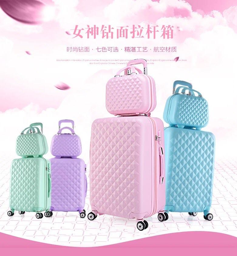 Пластиковый чемодан на колесах с сумкой INFEYLAY купить на Алиэкспресс