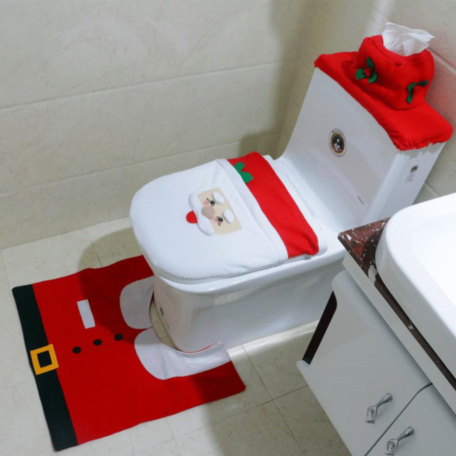 Новогодние украшения-чехлы для туалета купить на Алиэкспресс