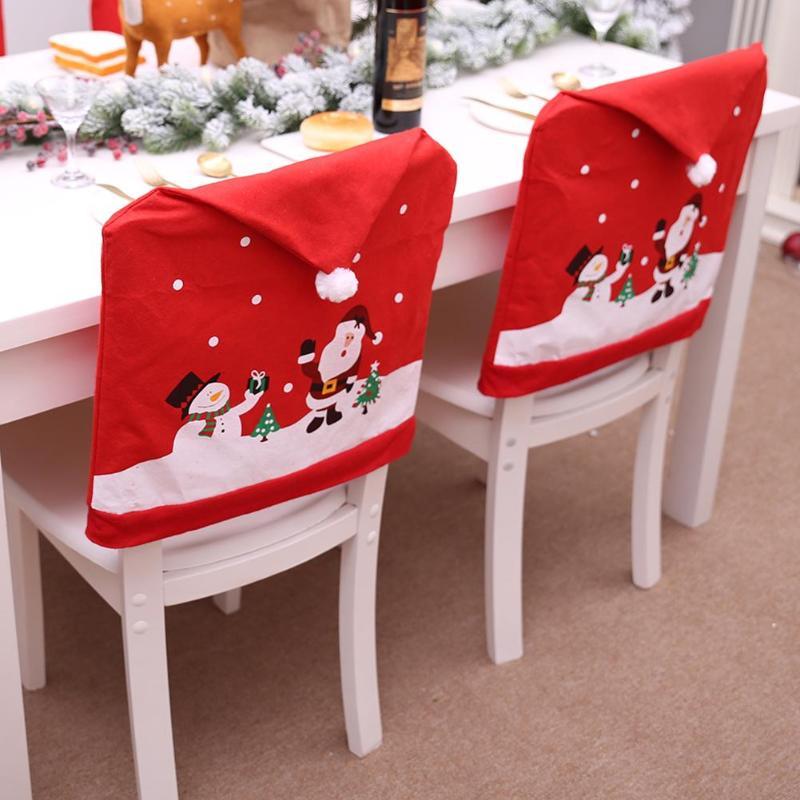 Новогодние чехлы на стулья купить на Алиэкспресс