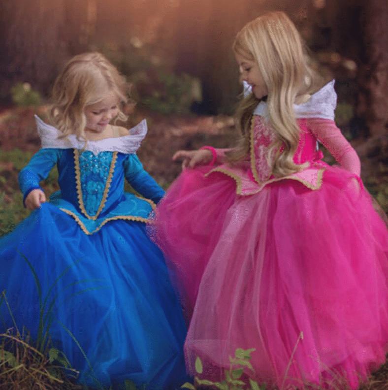 Костюм Спящей красавицы для девочки купить на Алиэкспресс