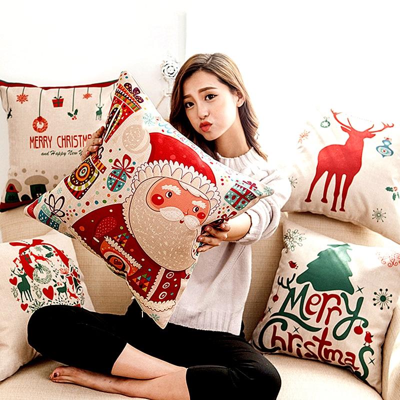 Декоративные новогодние подушки купить на Алиэкспресс