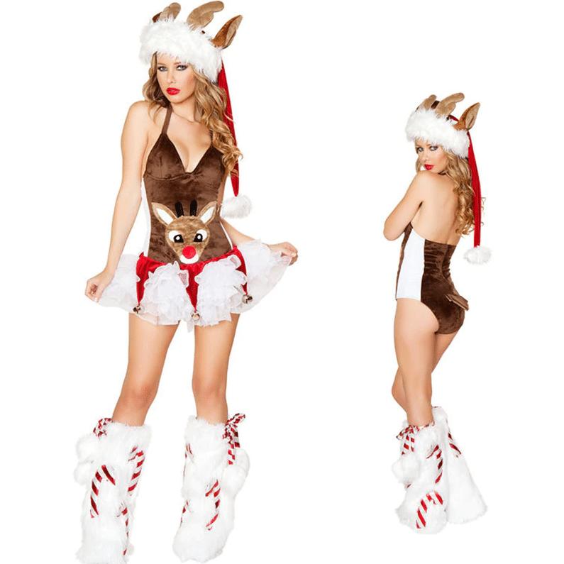 Новогодний эротический костюм B. I. Fineny купить на Алиэкспресс