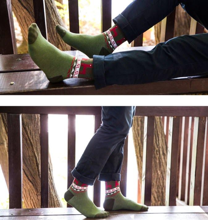 Мужские новогодние носки купить на Алиэкспресс
