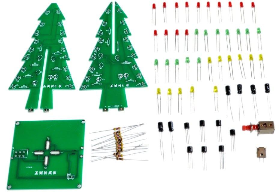 Новогодний конструктор — елка светодиодная MINGYUANDINGYE купить на Алиэкспресс