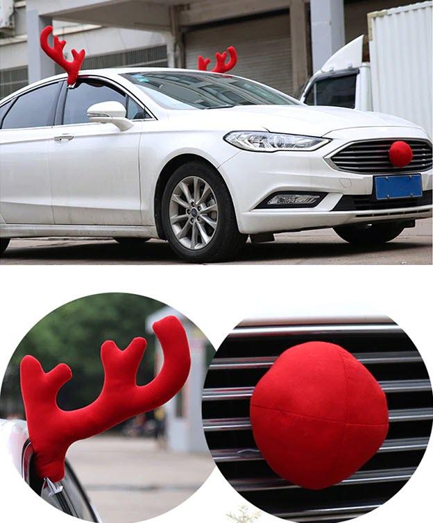 Новогоднее украшение автомобиля купить на Алиэкспресс