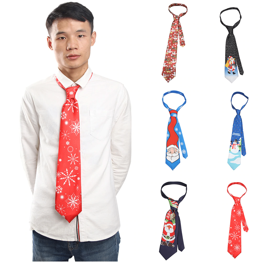 Новогодний галстук купить на Алиэкспресс