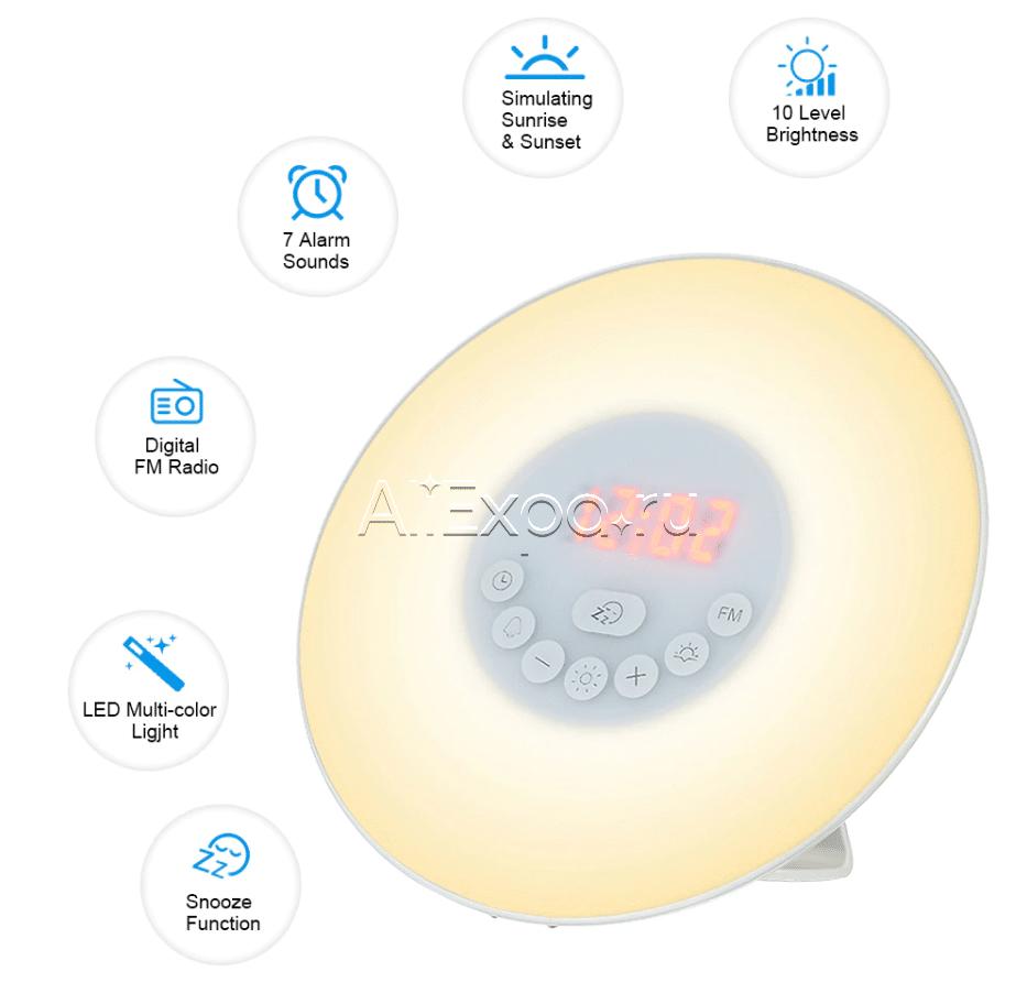 Цифровые часы с подсветкой и радио DECDEAL купить на Алиэкспресс