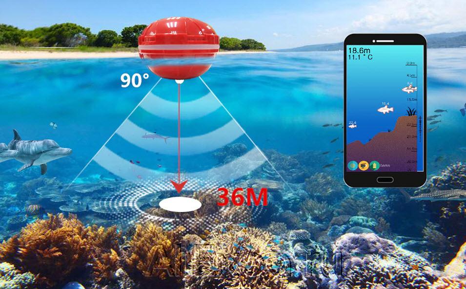 Эхолот Erchang для смартфона на Андроид и Айфон купить на Алиэкспресс