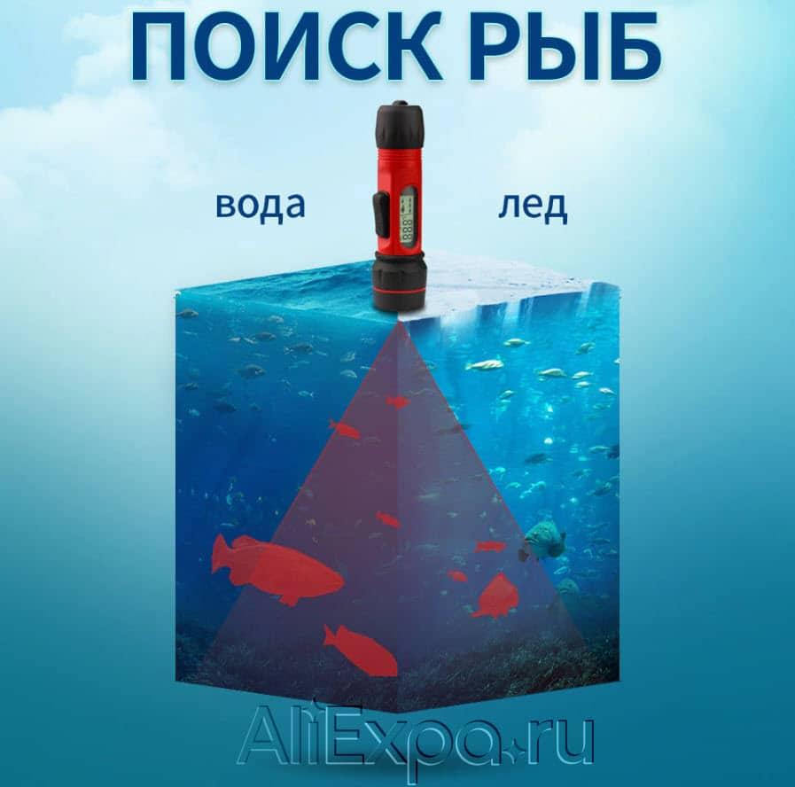 Портативный эхолот для рыбалки через лед Erchang купить на Алиэкспресс