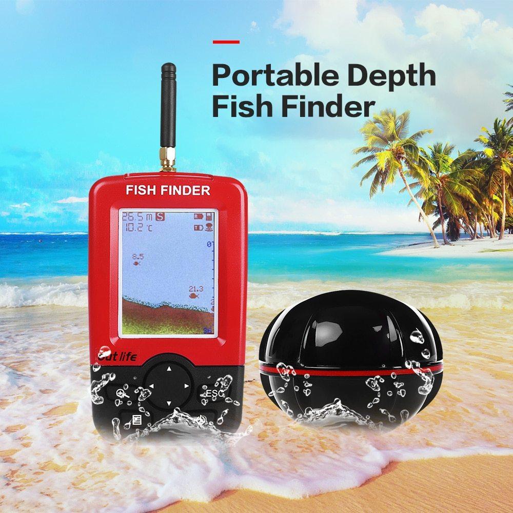 Беспроводнойэхолот FishFinder — для летней и зимней рыбалки купить на Алиэкспресс
