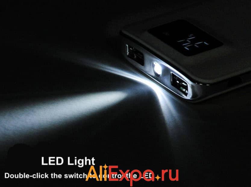 Портативная зарядка (Power Bank) с фонарикомBesiter | Подарки на 23 февраля коллегам с Алиэкспресс