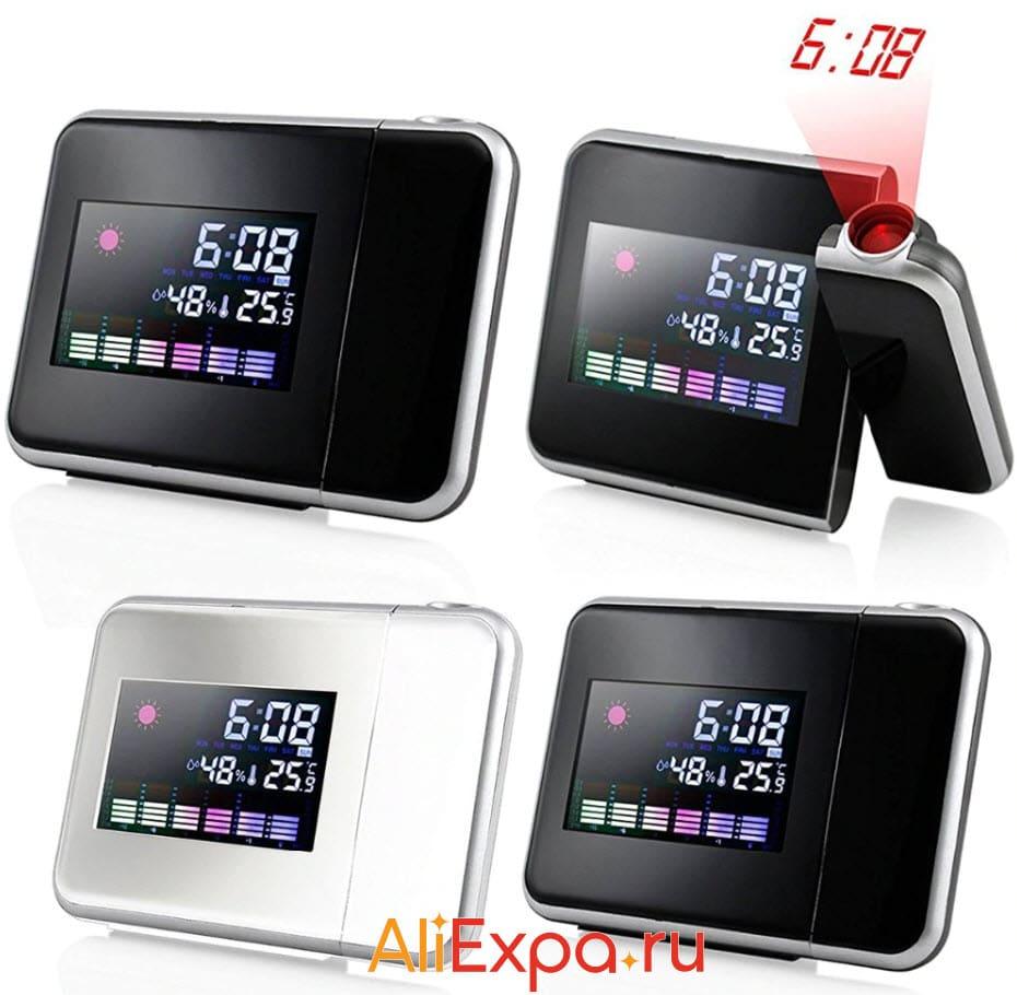Проекционные цифровые ЖК-часы XNCH | Подарки на 23 февраля коллегам с Алиэкспресс