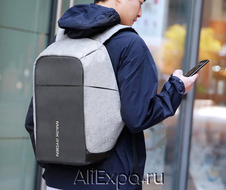 Водонепроницаемый рюкзак с USB зарядкой MARK RYDEN купить на Алиэкспресс