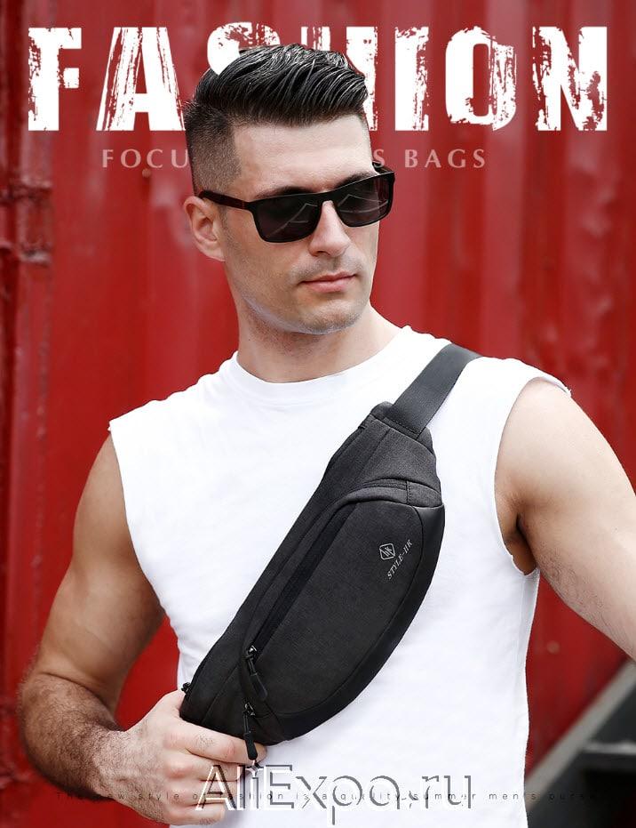 Поясная мужская сумка Hk купить на Алиэкспресс