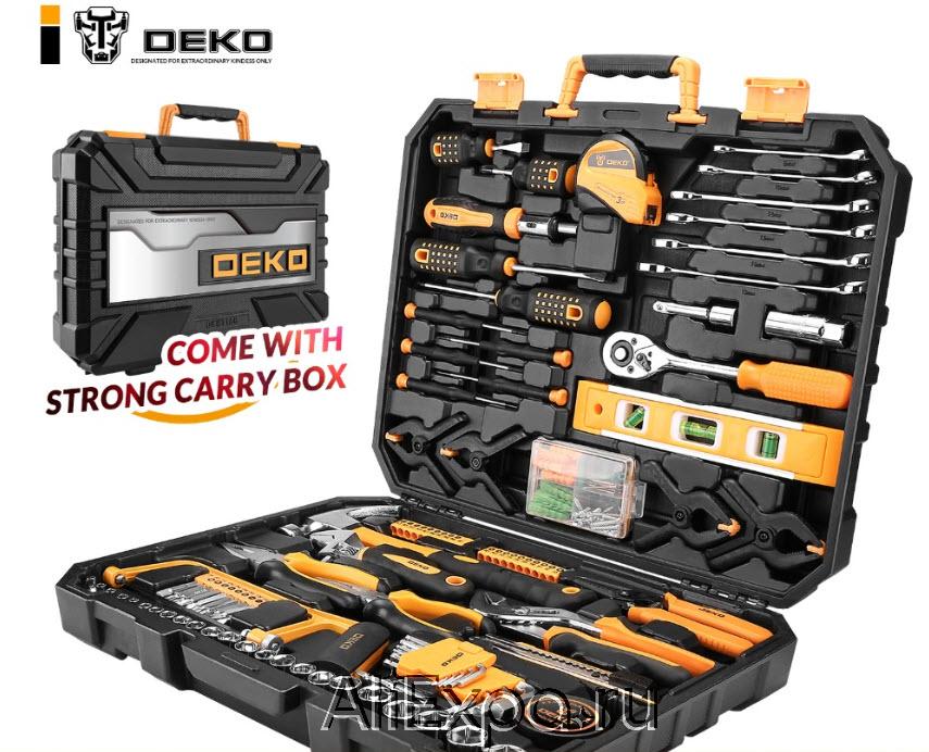 Набор из 168 инструментов для дома в чемодане DEKO купить на Алиэкспресс