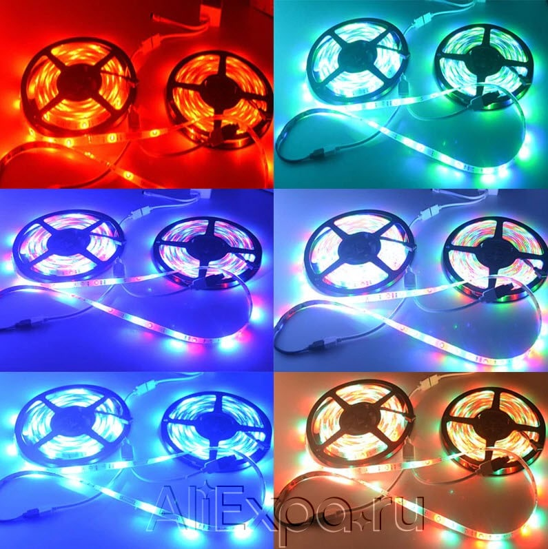 Светодиодная лента RGB с пультом и контроллером RiRi купить на Алиэкспресс