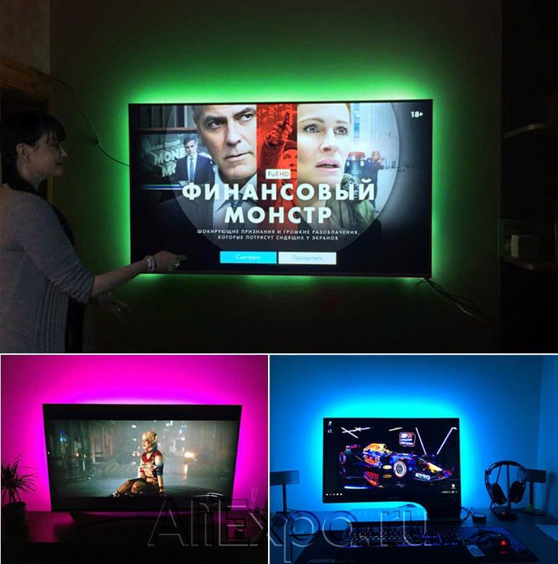 Светодиодная лента RGB с USB питаниемMALITAI купить на Алиэкспресс