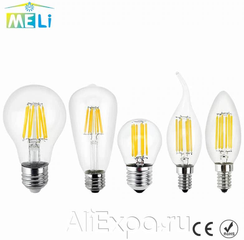 Светодиодная ретро-лампа Эдисона Mliang купить на Алиэкспресс