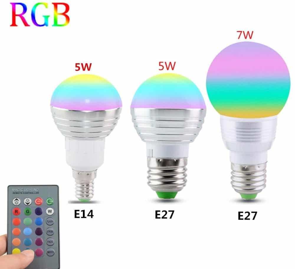 Светодиодная RGB лампа с пультом управленияАmmtoo купить на Алиэкспресс