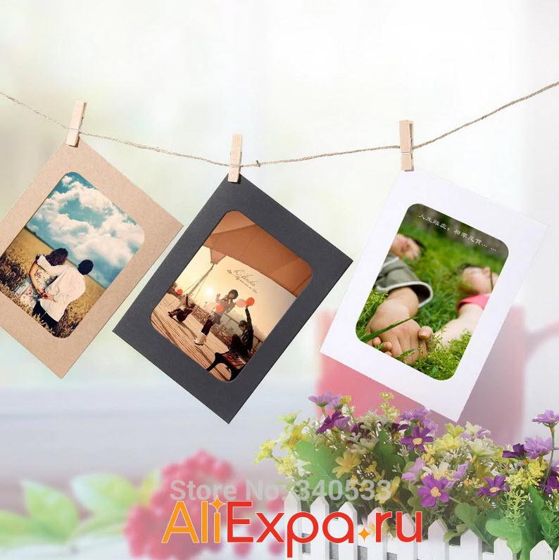 Рамки для фото с прищепками | Товары для декора дома