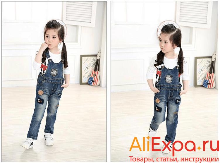 Детский джинсовый комбинезон для девочек PHOTIPONG купить на Алиэкспресс